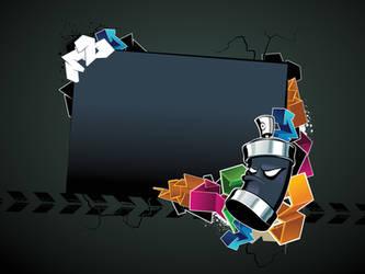 Black-Grafitti-PPT-Backgrounds