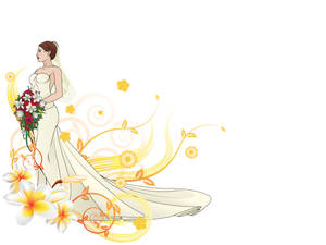 Beautiful Bride PPT Backgrounds