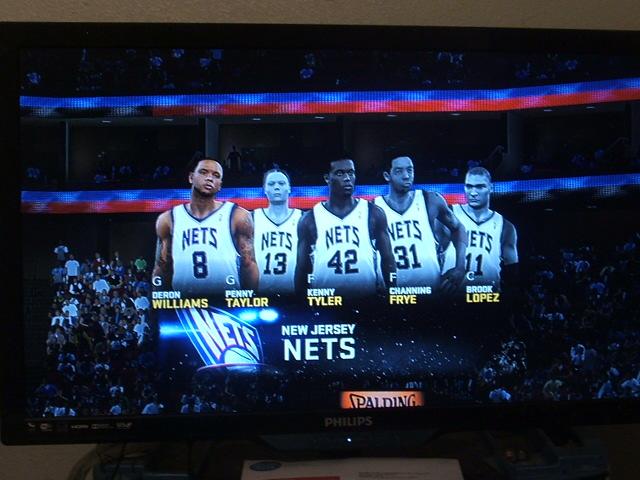 NBA2K11 New Jersey Nets starting 5 by werewolf85