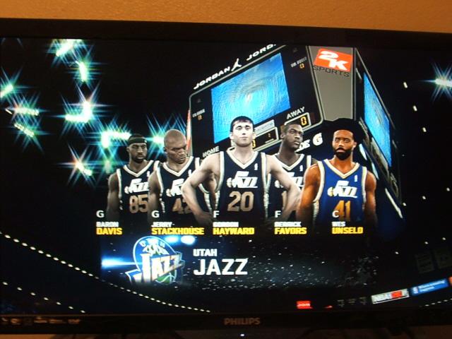 NBA2K11 Utah Jazz starting 5 by werewolf85