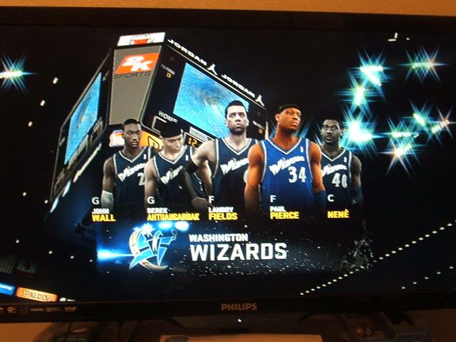 NBA2K11 Washington Wizards starting 5 by werewolf85