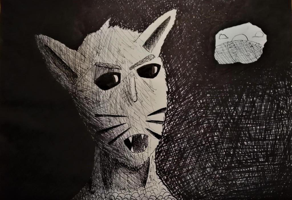 A creature in the dark by DaniCopic