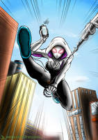 Radioactive Spider-Gwen by GreenRaptor15
