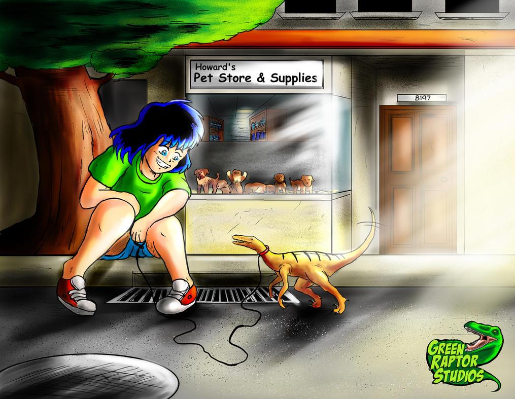 Little Kalwa meets Little Raptor by GreenRaptor15