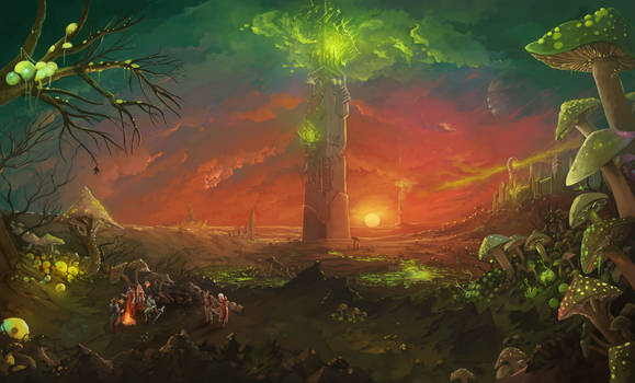 Sunset Over Blasted Lands