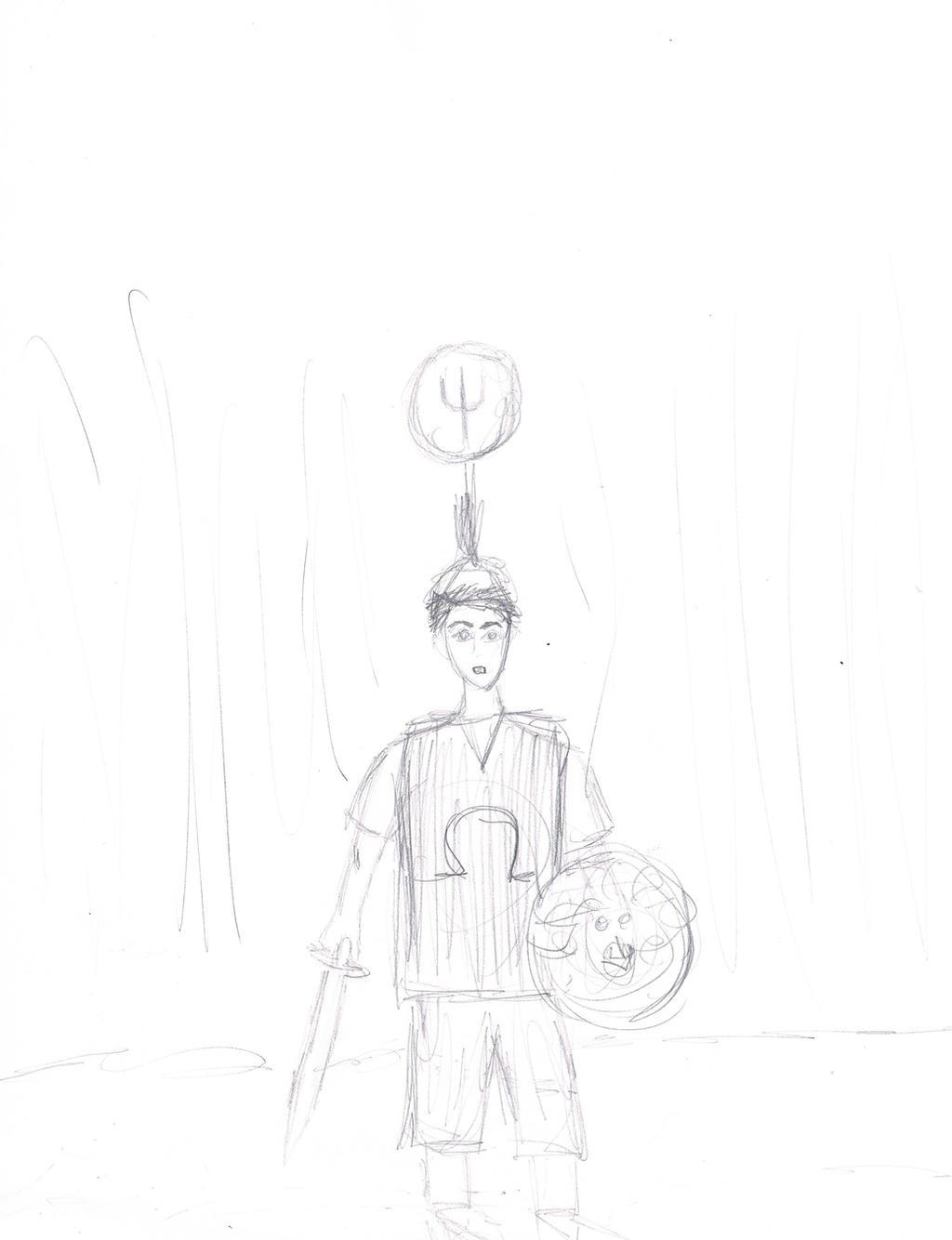 how to draw poseidon from percy jackson