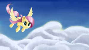 Fluttershy above clouds
