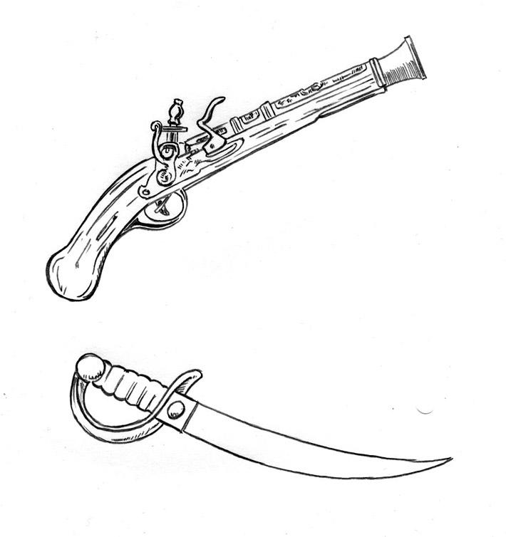 how to draw a cutlass