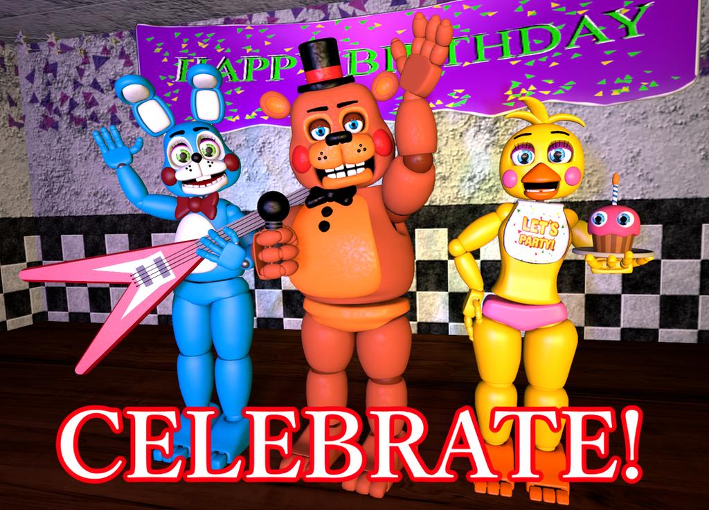 Fnaf Celebrate Poster By Gamesproduction – Fondos de Pantalla