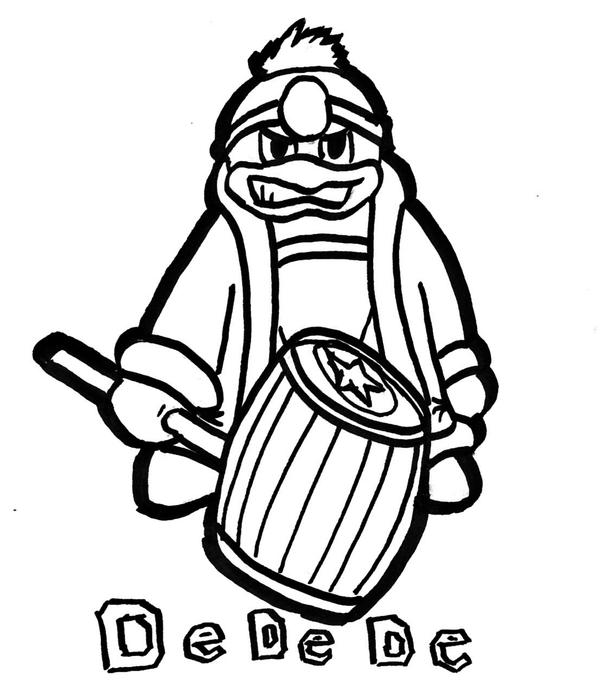 King dedede free coloring pages for Fat albert coloring pages