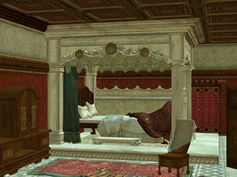 3D Stock kingbedroomBG 01 by Delekatala-stock