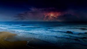 Dark Stormy Beach Aesthetic Scenery