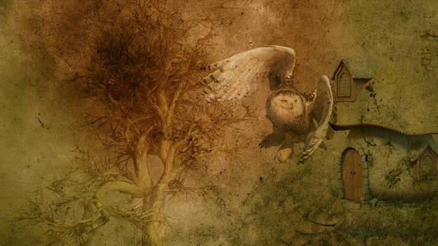 Vintage Owl Background 06