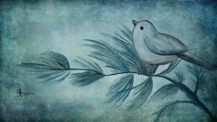 Vintage Bird Pencil Drawn