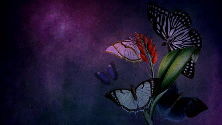 Vintage Butterflies Background