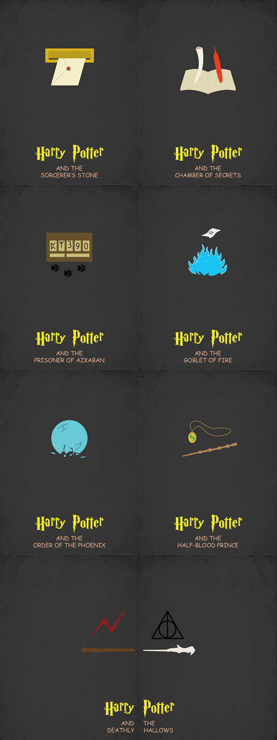 Minimalist Posters - The Harry Potter Movies on Behance |Harry Potter Minimalist Art