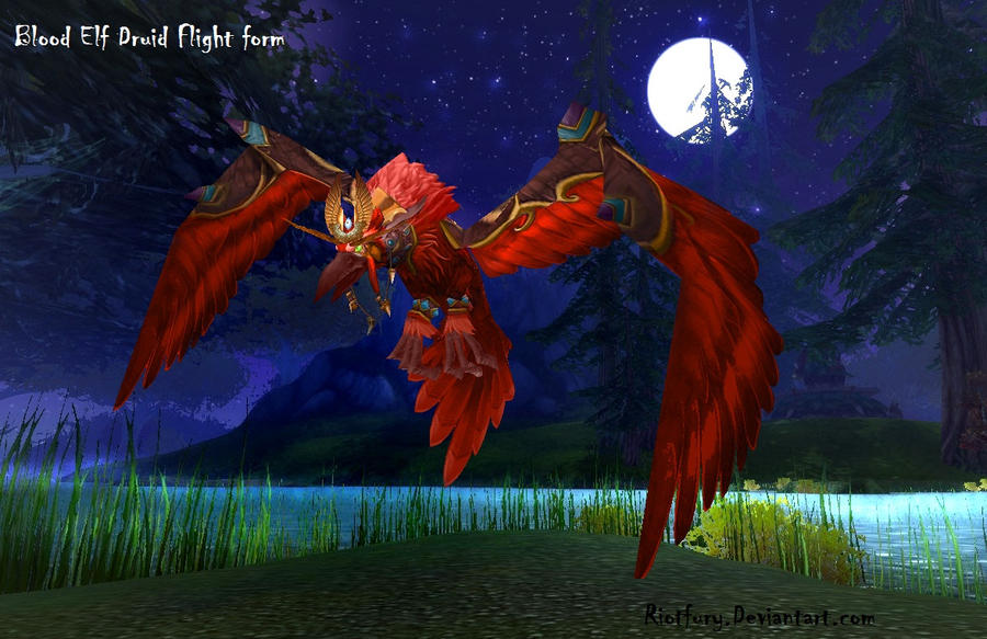 Blood elf druid form by riotfury