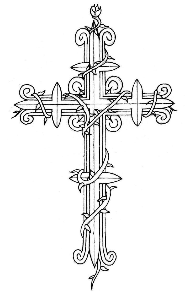 Cross tattoo 2 by Sheighness on DeviantArt