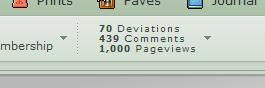 1000 pageviews by Sheighness