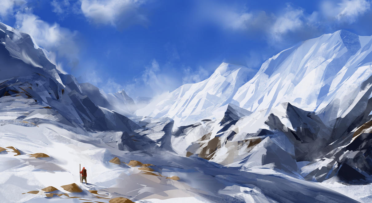 Snowy Mountains by JoakimOlofsson