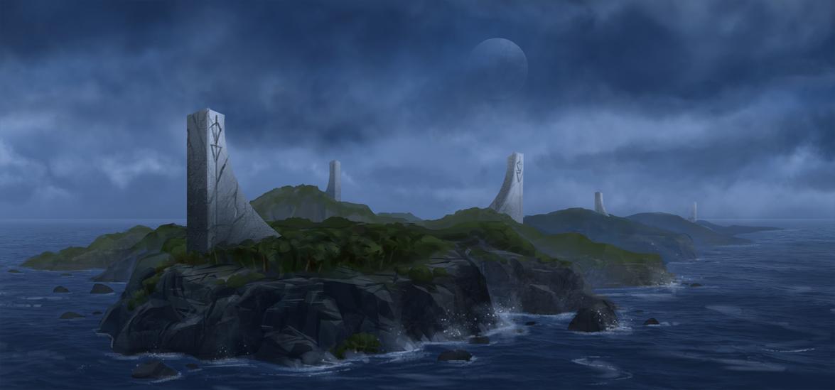 Ancient Island by JoakimOlofsson
