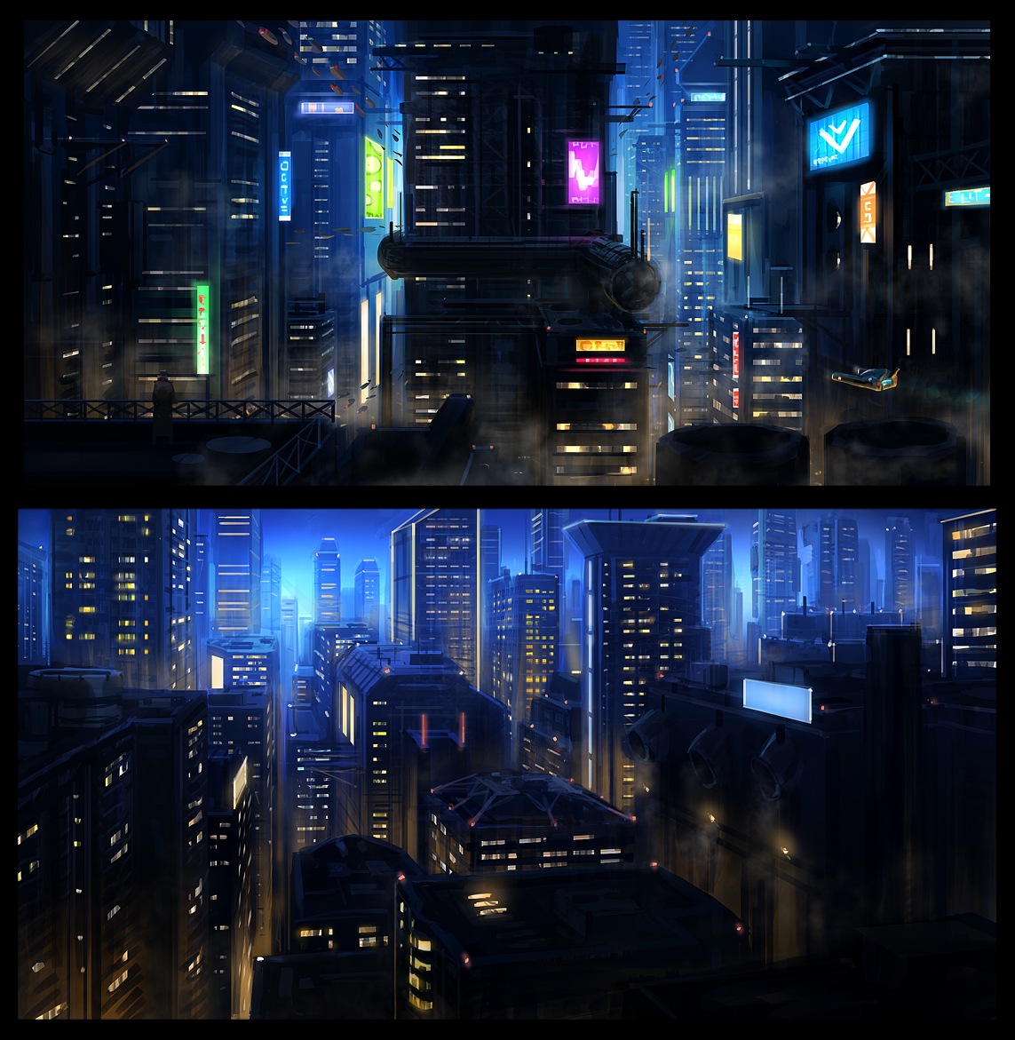 Futuristic city by JoakimOlofsson