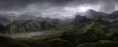 Misty Mountains by JoakimOlofsson