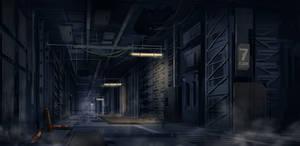 Dark Corridor by JoakimOlofsson