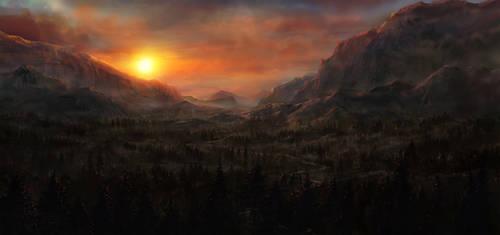 Sunset by JoakimOlofsson