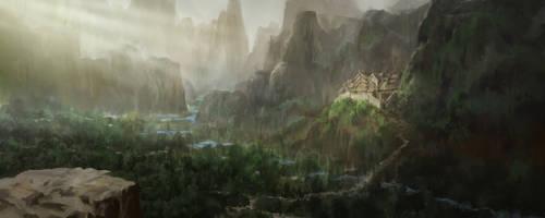 Mountain Castle by JoakimOlofsson