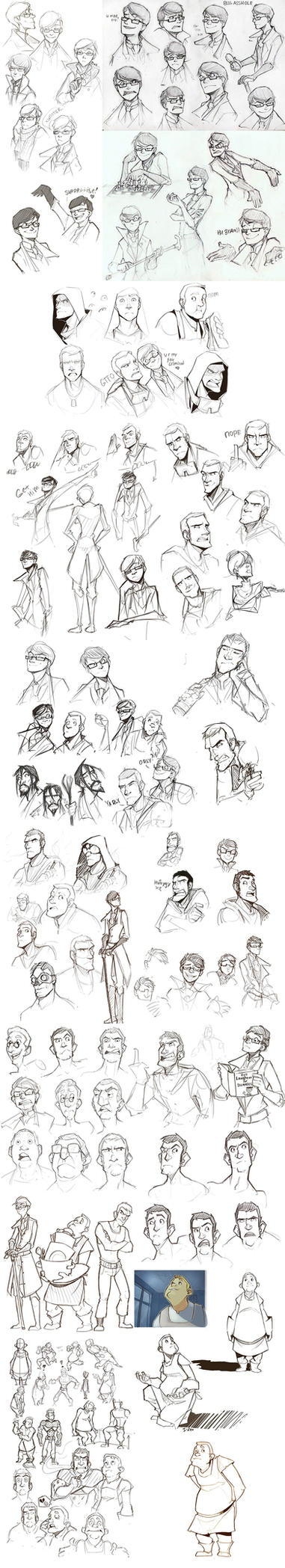 old sketches by I-Zet