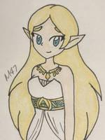BOTW Zelda by M-D-47