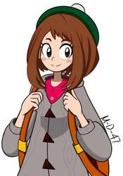 Pokemon Trainer Uraraka by M-D-47