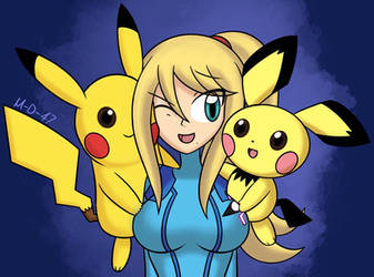 Samus and Two Chus by M-D-47