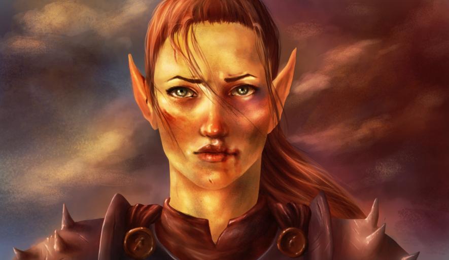 Elf warrior by Virtuxa