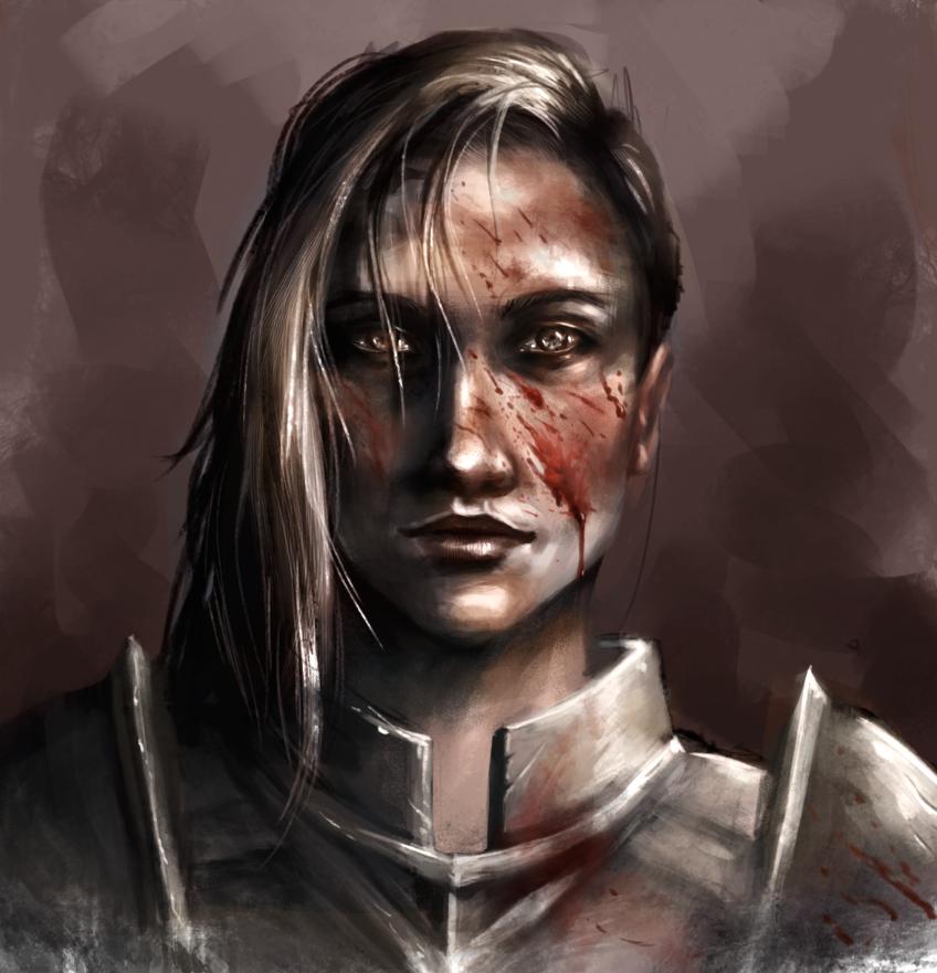 Warrior lady by Virtuxa