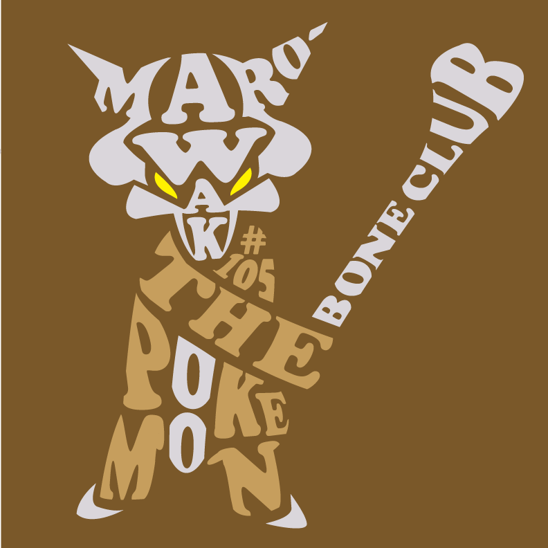 Schoolwork-  Marowak Typography by OddPenguin