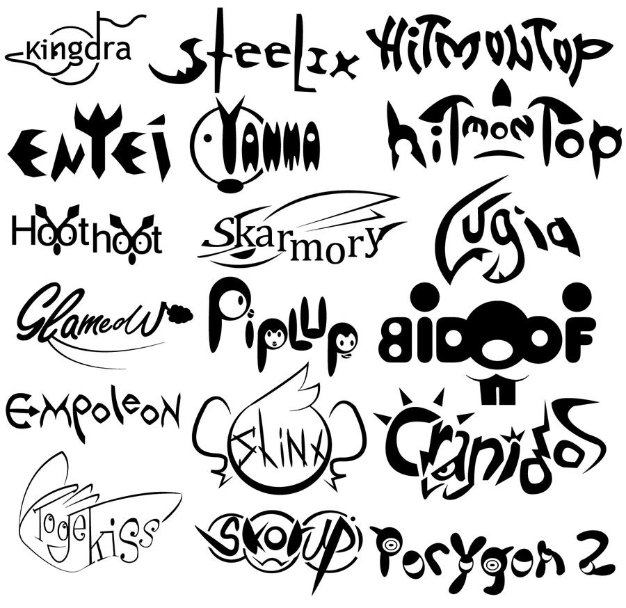 Name Logos Typography bw Logo Typography Practice