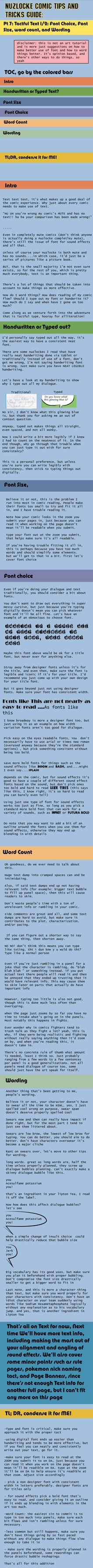 Nuzlocke Comics Guide: Text pt 1 by OddPenguin