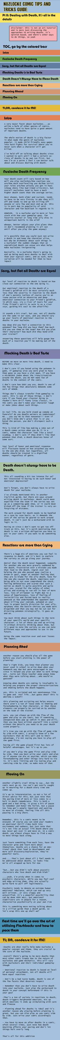 Nuzlocke Comics Guide: Death by OddPenguin