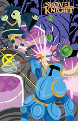 Shovel Knight Poster- Fight in the Explodatorium!