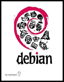 debian infographic logo