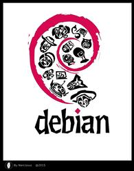 narcissus - Debian InfoGrapic (logo)-2015