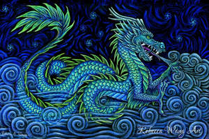 Chinese Azure Dragon by rebeccawangart