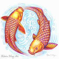 Pisces by rebeccawangart
