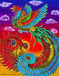 Fenghuang Colorful Chinese Phoenix Bird