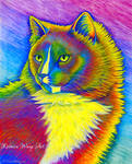 Colorful Pet Portrait - Lenny