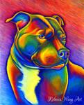 Colorful Pet Portrait - Tallulah