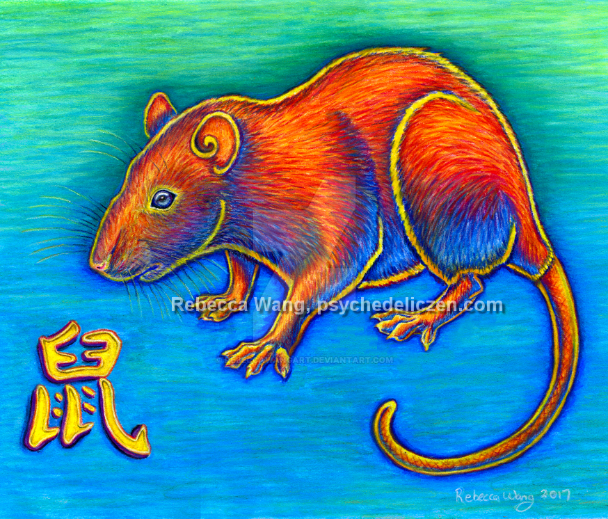 Chinese Zodiac - Year of the Rat by rebeccawangart