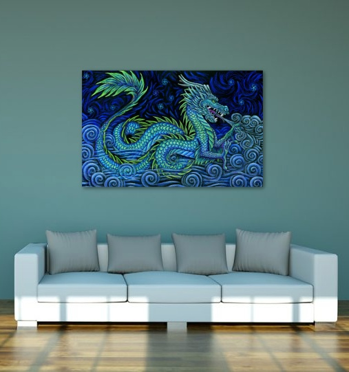 Chinese Azure Dragon Poster by psychedeliczen